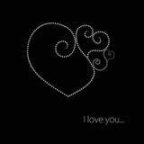 черная белизна Валентайн сердца иллюстрация вектора