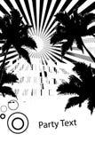 черная белизна времени партии Стоковое Изображение