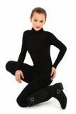 черная белизна девушки Стоковая Фотография