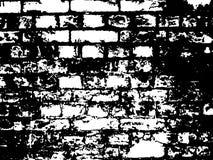 черная белизна иллюстрации кирпича Стоковая Фотография