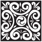 черная белизна конструкции Стоковое Изображение
