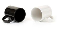 черная белизна кружки Стоковые Фотографии RF