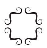 черная белизна переченя рамки Стоковые Изображения RF