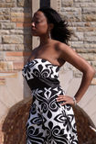 черная белизна платья Стоковые Изображения RF