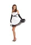 черная белизна повелительницы платья Стоковое Фото