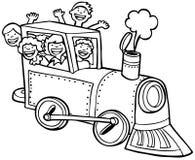 черная белизна поезда езды ребенка Стоковые Фото