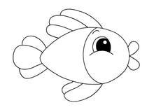 черная белизна рыб Стоковое Изображение