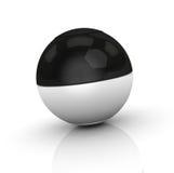 черная белизна сферы Стоковые Изображения