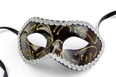черная белизна тени маски мягко venetian Стоковое Фото