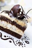 черная белизна шоколада торта Стоковое Изображение RF