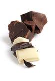 черная белизна шоколада Стоковые Фото