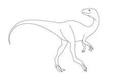 черная белизна динозавра Стоковое Фото