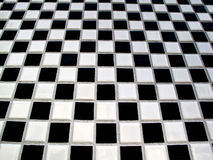 черная белизна checkerboard Стоковое Изображение
