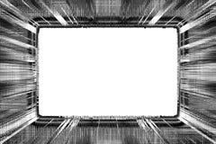 черная белизна grunge рамки Стоковые Фото
