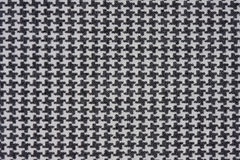 черная белизна houndstooth ткани проверки Стоковая Фотография