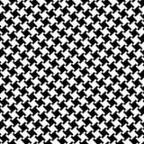 черная белизна houndstooth Стоковое Изображение