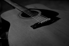 черная белизна гитары Стоковые Изображения RF