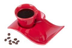 черная белизна кофейной чашки изолированная Стоковая Фотография RF