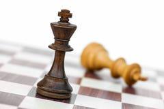 Черная белизна проверки короля шахмат Стоковая Фотография RF