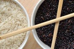 черная белизна риса Стоковые Фото