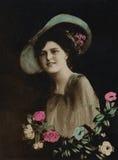 черная белизна сбора винограда портрета изображения Стоковая Фотография RF