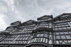 черная белизна tudor здания Стоковое Изображение RF
