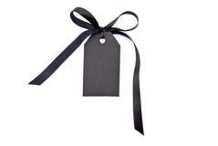 черная бирка подарка стоковое изображение