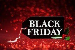 Черная бирка продажи пятницы Стоковое Фото
