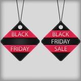 Черная бирка продаж пятницы бесплатная иллюстрация