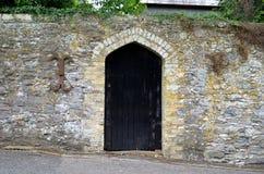 Черная дверь Стоковое Фото