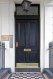 Черная дверь Стоковые Фото
