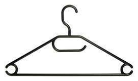 Черная вешалка одежд Стоковое Фото