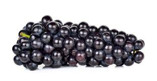 Черная виноградина изолированная на белой предпосылке Стоковая Фотография