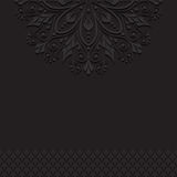 Черная винтажная предпосылка орнамента Стоковые Изображения