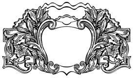 черная виньетка Стоковое Изображение RF