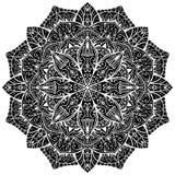 Черная восточная мандала Стоковое Фото