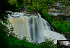 Черная вода падает в Западную Вирджинию Стоковое фото RF