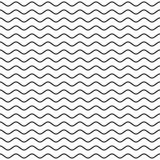 Черная волнистая линия безшовная картина Стоковое Изображение