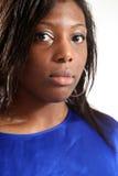 черная вскользь женщина Стоковая Фотография