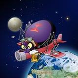 Черная вдова в космосе Стоковое Фото