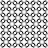 Черная геометрическая безшовная картина на белой предпосылке Стоковые Фото