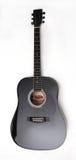 черная гитара Стоковая Фотография