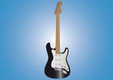 черная гитара Иллюстрация штока