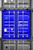 черная голубая белизна контейнера Стоковая Фотография RF