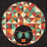 Черная головная женщина с странными волосами. иллюстрация вектора