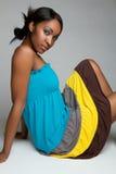 черная девушка довольно Стоковое Изображение
