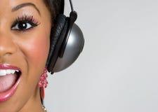 черная девушка пея Стоковое Изображение