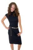 черная девушка платья Стоковые Фото