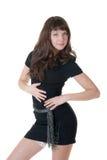 черная девушка платья Стоковое фото RF