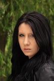 черная девушка с волосами стоковое фото